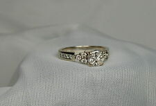 14k white Gold Diamond 0.69 ct. Solitaire Engagement Ring Size 7.25