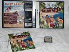 The Sims 2: Castaway Survival (Nintendo DS, 2007) Japan!