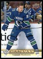 2019-20 Upper Deck UD Canvas #C78 Tanner Pearson - Vancouver Canucks
