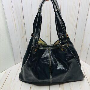 Fossil Modern Vintage Purse Large Black Leather Tote Shoulder Bag ZB2523 EUC!