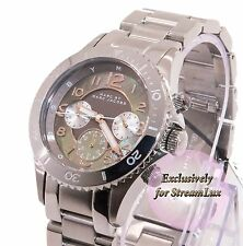 MARC BY MARC JACOBS Rock MBM3250 Silver Steel Mother of Pearl Dial Women Watch