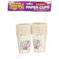 20pz. Happy Birthday tovaglioli bicchieri di carta Vetro stampato con