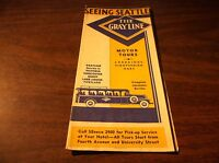1930's THE GRAY LINE SEEING SEATTLE BROCHURE