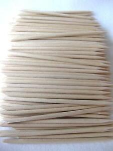 "100 x 4"" ORANGE CUTICLE MANICURE STICKS PEDICURE STICK REMOVER NAIL ART WOOD"