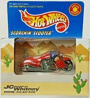 Hot Wheels JC Whitney Red Scorchin Scooter w/Real Riders