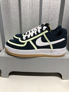 Nike Air Force 1 07 PRM Armory Navy White CI9349 400 Uk 4.5 Ladies Trainers