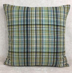 "iLiv Wool Effect ""BYRON"" in MIDNIGHT Fabric Cushion Cover 20""x20"" Tartan Check"