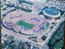 Michigan Stadium 16 x 20 photo  autographed by 6 Greats Ron Kramer  Carter