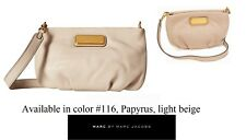 Marc By Marc Jacobs 'New Q-Percy' Leather Crossbody Bag in Papyrus beige, NWT