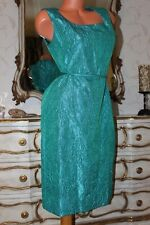 (S5) BERKERTEX MAYFAIR Emerald Green Shiny fitted evening party dress size 14