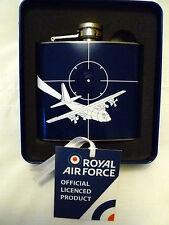 "RAF HIP FLASK "" HERCULES AIRCRAFT DESIGN "" 5oz STAINLESS STEEL"