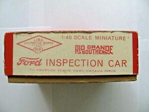 On3 Rio Grande Southern Ford Inspection Car Kit, SS LTD #C104