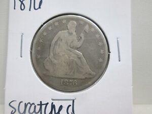1876 US SILVER SEATED LIBERTY HALF DOLLAR