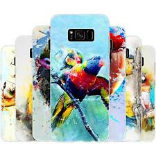 Dessana Parrots Painting TPU Silicone Protection Case Phone Cover for Samsung