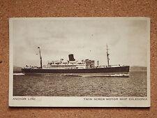 R&L Postcard: Anchor Line  Twin Screw Motor Ship Caledonia