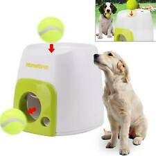 Auto Pet Dog Treat Tennis Ball Toy Fetch Thrower Throw Up Hyper Game Training