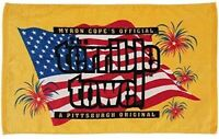 NEW! NFL Pittsburgh Steelers Patriotic US Flag Official Terrible Towel Fan Gift
