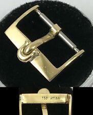 Vintage OMEGA 18k GOLD .750 SWISS 16mm LOGO BUCKLE Approx 1968