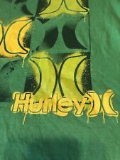 Mens Hurley T-Shirt Short Sleeve Shirt Green Size Medium