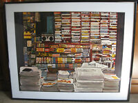 "RARE KEN KEELEY ""100 MAGAZINES"" 1980's 30/250 SIGNED SILKSCREEN SERIGRAPH LARGE"