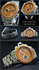 Cavadini Chronograph Sport  SWORDFISH, komplett Titan 180 gramm, 50mm, orange