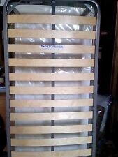 2 RETI a doghe di legno betulla con barra anti affossamento mis.80x190x35cm.