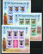 Barbuda 1981 Royal Wedding MNH Sheetlets Sheets Set #D42317