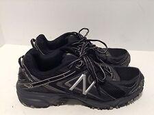 Men's New Balance All Terrain 411 V2 Black Silver Running Shoes Size 10