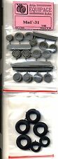 EQG48035 Equipage 1/48 Rubber Wheels for Mikoyan MiG-31 model kit