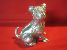 Vintage cast metal dog figurine statue American Bulldog or Bull Mastiff