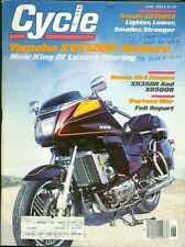 1983 Cycle Magazine: Yamaha XVZ1200 Venture/Suzuki GS750ES/Honda XR350R XR500R