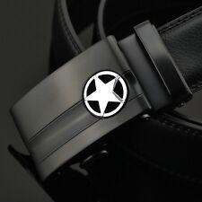 Luxury Genuine Leather Belts For Men Automatic Belt Buckle Designers Belts Black