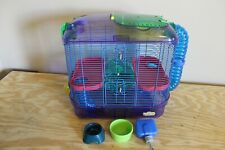 Hamster Mouse 2 Level Habitat Tunnels Play Area Small Pet Cage Exercise Wheel