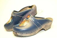 Dalatoffeln Fran Nils Olsson Sweden Made Womens 36 6 Painted Leather Clogs Shoes