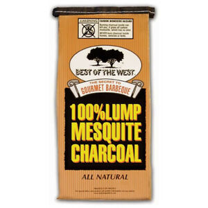 Best of the West Mesquite Natural Hardwood Lump BBQ Grill Charcoal, 15.40 Pounds