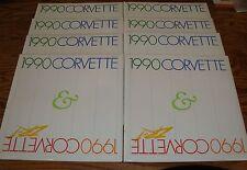 1990 Chevrolet Corvette ZR-1 Deluxe Sales Brochure w/Envelope Lot of 8 90 Chevy