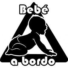 b50 Bebé a bordo Adhesivo Pegatina Vinilo Sticker Cristal niño niña Chapa.