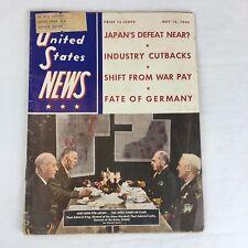 Vintage Magazine United States News WWII 1945 December Issue War Issue