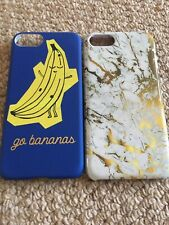 iPhone 7 phone case brand new set of 2 gold marble and a banana
