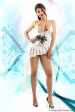 EROTIK - Minikleid - Partykleid - weiß - Größe: S/M  Marke SEXY-LEA