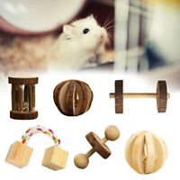 Wooden Ball Bell Exercise Pet Chew Toy for Hamster Hedgehog Mouse Rat Guin KPA