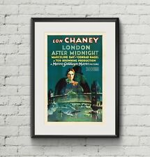 London After Midnight vintage horror movie poster canvas print Lon Chaney