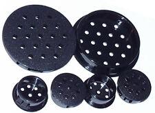 8 Lüftungs,-Ablaufstopfen 22mm - schwarz - 2,4mm Löcher