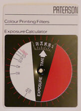 PATERSON EXPOSURE CALCULATOR FOR COLOUR PRINTING FILTERS.