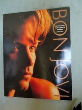 BON JOVI Large True Story Book  Color Photos  Life Story  Band Members  1995