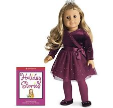 American Girl Sparkly plum Outfit Dress Accessories Box Shoes Purse Necklace