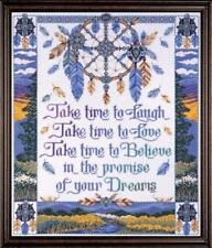 "Design Works BELIEVE 9850 COUNTED CROSS STITCH KIT 16"" X 20"" DREAM CATCHER"