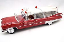 CADILLAC AMBULANCE DE 1959 GREENLIGHT PRECISION COLLECTION 1/18 JUL16DC