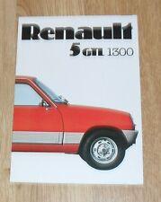 Renault 5 GTL 1300 Brochure 1976