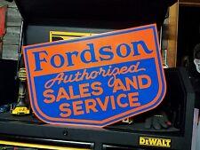 Antique Vintage Old Style Fordson Sign